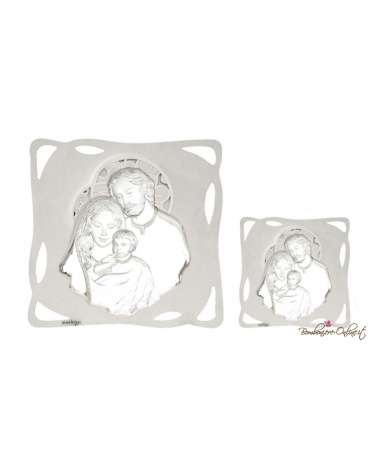 Bomboniera quadro bianco Sacra famiglia 8 x 8