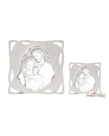 Quadro bianco Sacra famiglia 36 x 36