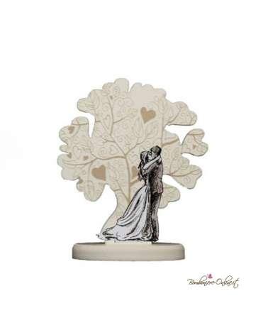 Bomboniera albero con gli sposi