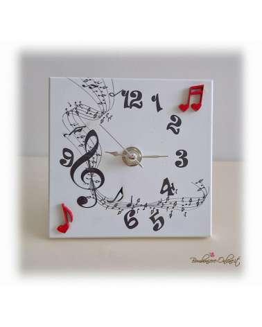 """Orologio quadrato serie """"Musica"""""""