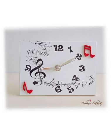 """Orologio rettangolare serie """"Musica"""""""