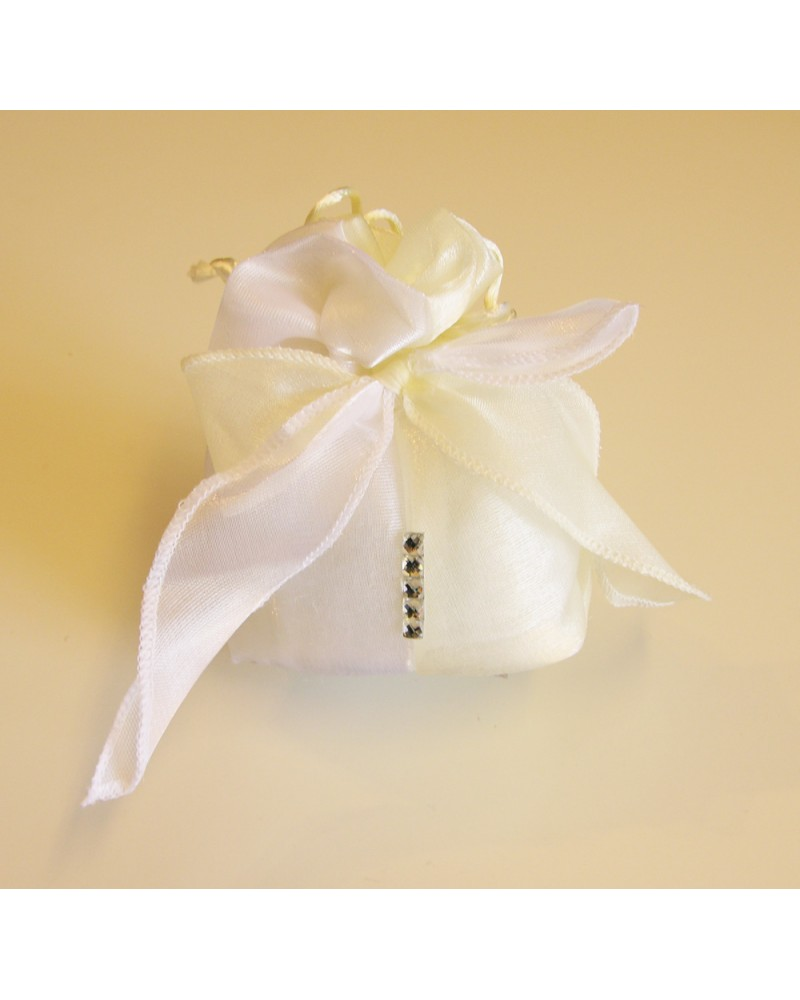 Segnaposto sacchetto confetti imbottito con strass