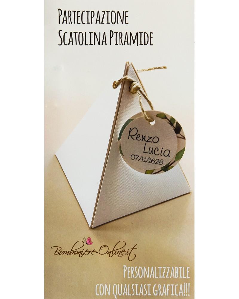 Partecipazione scatolina piramide