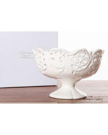 Bomboniere Matrimonio Morena: Alzata in ceramica bianca traforata