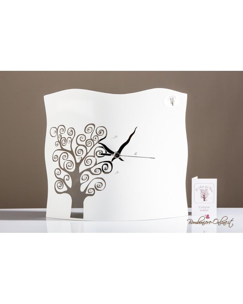 Orologio grande sagomato in vetro decoro albero della vita linea Eva
