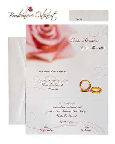 Rosa Fiore Biglietto d'invito