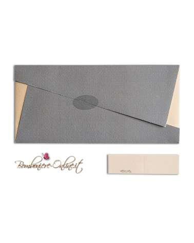 Grigio Ombra Classica Stampata Carta Di Matrimonio