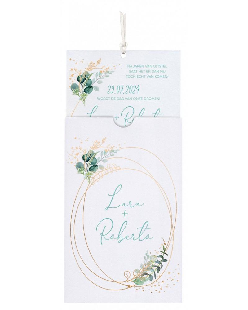 Partecipazione matrimonio - Atmosfere botaniche bianca