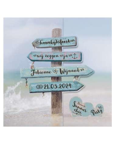 Partecipazione di nozze - Spiaggia
