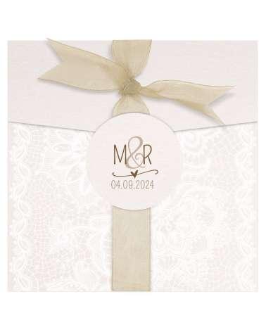 Partecipazione di nozze - Barocco con tulle