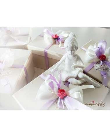 Bomboniere Ballerina porcellana bianca media