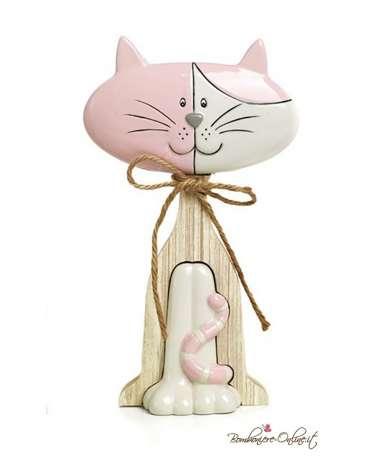 Bomboniera gattino spiritoso rosa piccolo