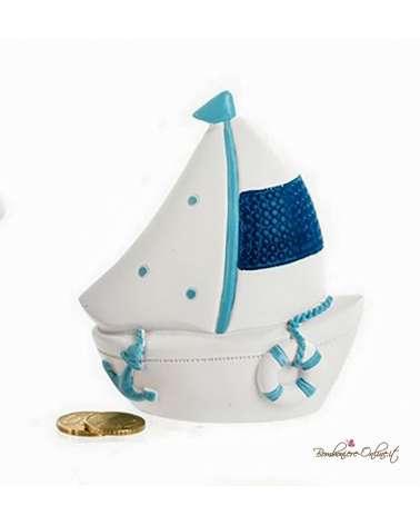 """Salvadanaio barca a vela serie """"Mare azzurro"""""""