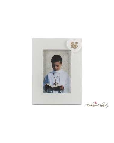 Bomboniera Portafoto con cuore simboli Santa Cresima