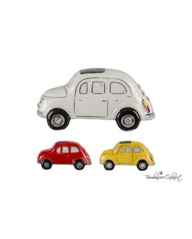Auto Fiat 500 vintage in ceramica