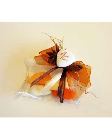 Segnaposto o bomboniera box confetti trasparente con spezie natuali