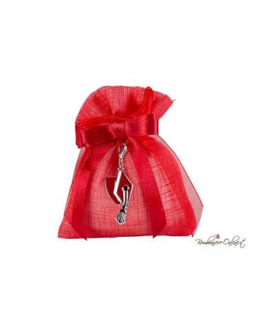 Sacchetto rosso con charme tocco laurea