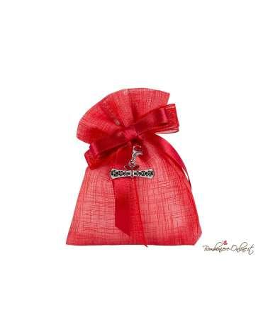 Sacchetto rosso con charme pergamena laurea