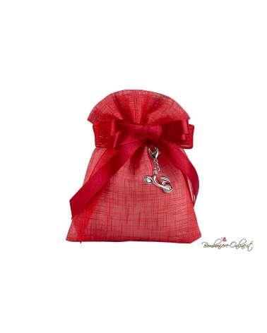 Sacchetto rosso con charme Vespa rossa