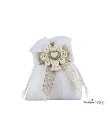 Sacchetto bianco con magnete albero della vita