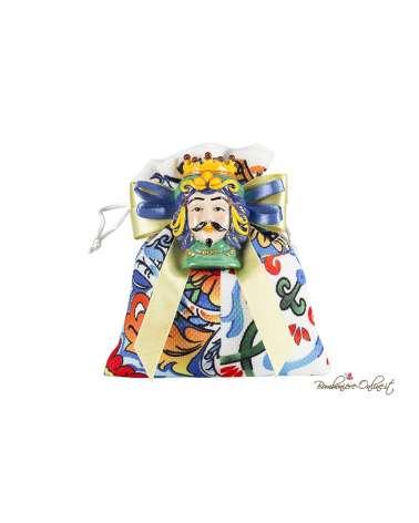 Sacchetto con magnete Testa di Moro uomo colorato