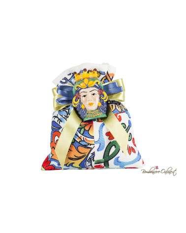 Sacchetto con magnete Testa di moro donna colorato