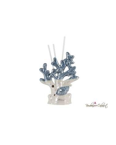 Bomboniera Profumatore corallo piccolo in porcellana con led