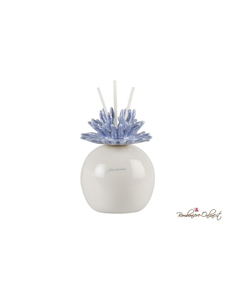 Bomboniera Profumatore anemone tondo in porcellana