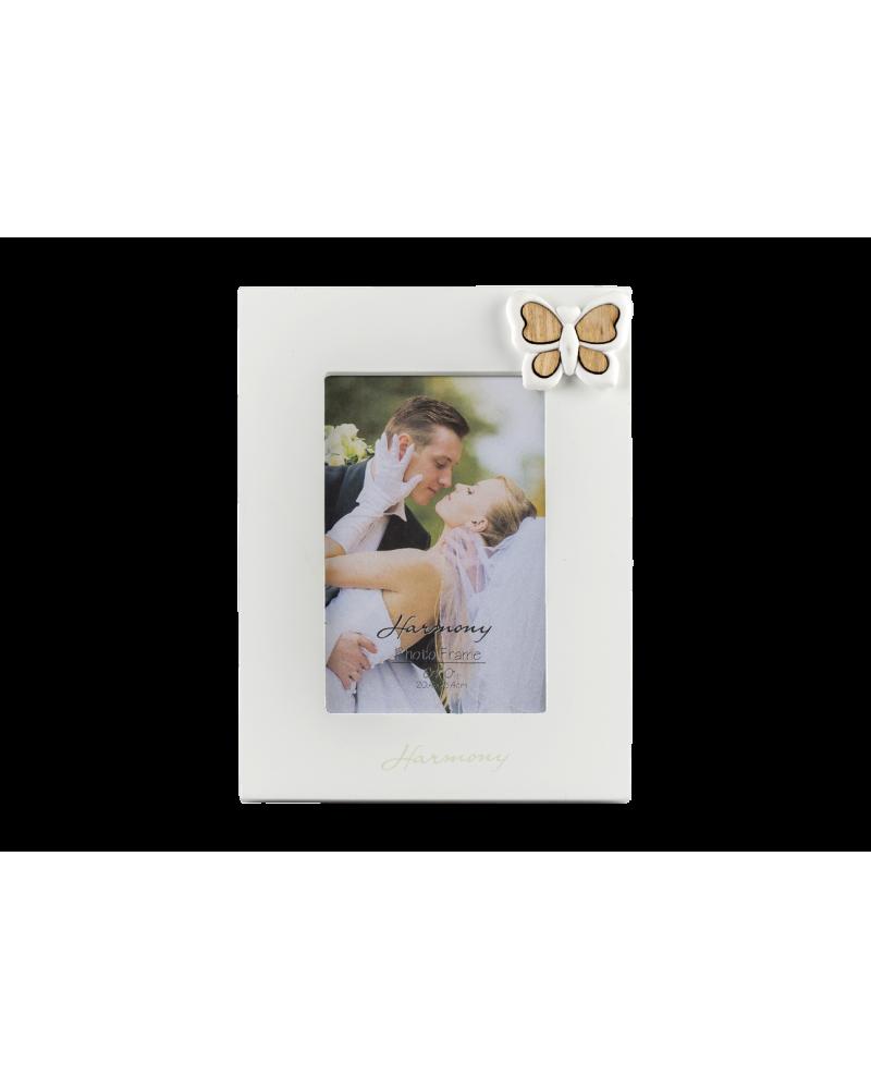 Bomboniera Nozze Portafoto con cuore farfalla