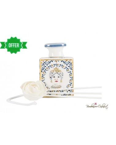 Bottiglia piccola profumatore decorazione Testa di moro donna