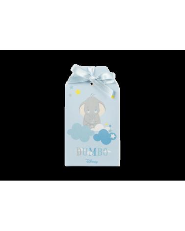 Scatolina a bustina porta confetti Dumbo azzurro
