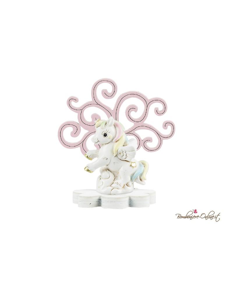 Albero della vita in legno con unicorno clip holder rosa o azzurro