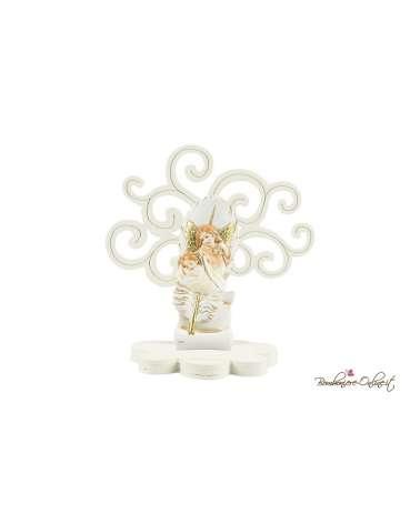 Albero della vita in legno con angelo e bimbo