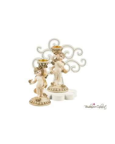 Albero della vita in legno con angelo porta candela