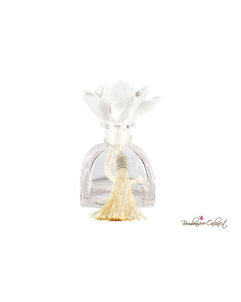 Bottiglia in vetro piccola con tappo in gesso