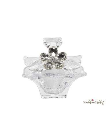 Bomboniera Nozze Scatola in cristallo con fiore prezioso