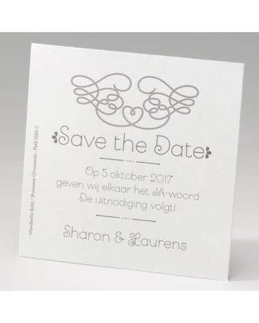 Save the Date Matrimonio Avorio