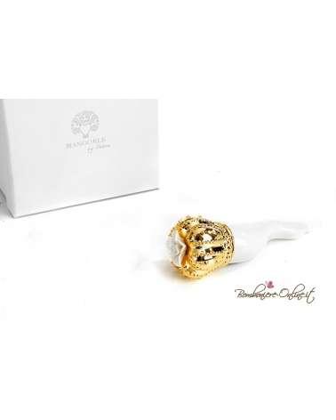 Bomboniera cornetto portafortuna piccolo oro