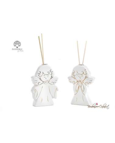 Bomboniera Diffondi profumo angelo in porcellana bianca