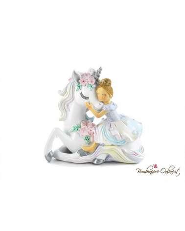 Bomboniera principessa con unicorno