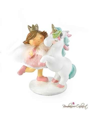 Bomboniera tenera Bimba principessa grande con unicorno