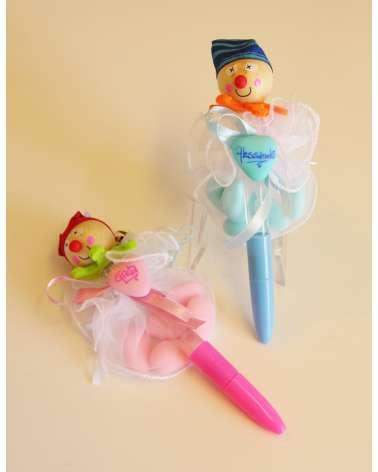 Penna con bolle di sapone pagliaccetto