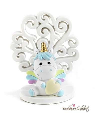Albero con unicorno azzurro