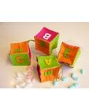 Cubo portaconfetti alfabeto