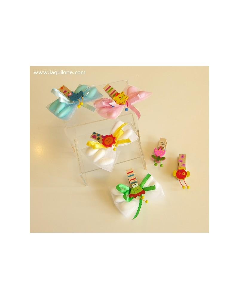 """Segnaposto confetti Papillon con molletta """"Witty"""""""