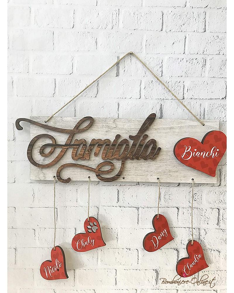 Decorazione da muro targa famiglia personalizzabile