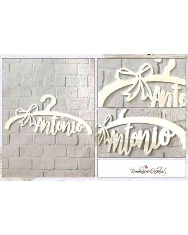 Gruccia Decorazione da muro in plexiglass con nome personalizzabile