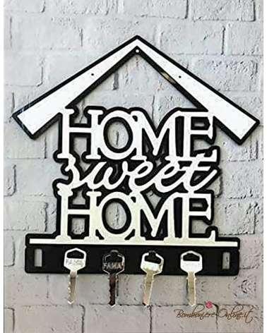 Appendichiavi casetta Home Sweet Home in plexiglass