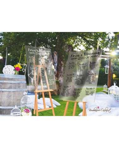 Tableau de mariage plexiglass lucido o opaco
