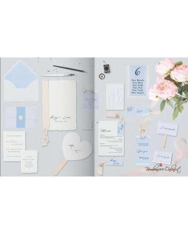 """Set coordinato Partecipazione e accessori Matrimonio """"Everything azzurro"""""""